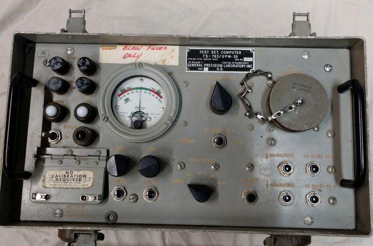 US Air Force Computer Test Set AN/UPM-35 TS-783 Cold War USAF Military Surplus