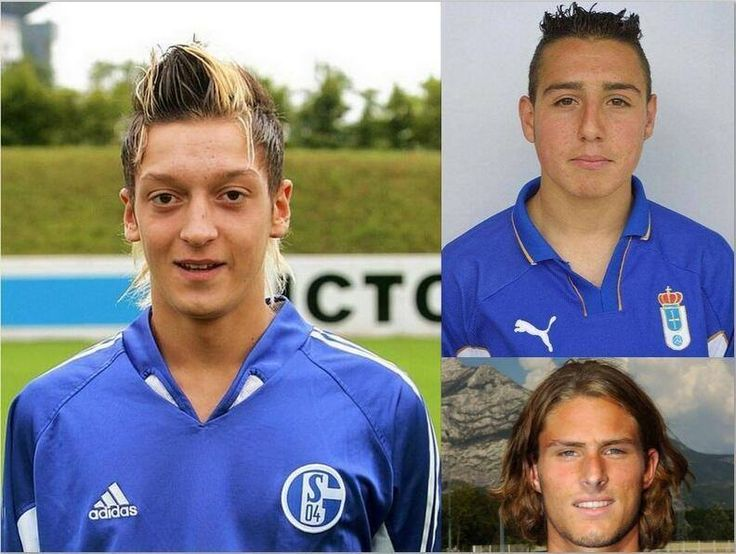 Arsenal's stars of today weren't always so stylish....