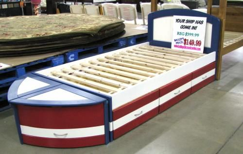 Love This One It S Just A Regular Captain S Bed With The