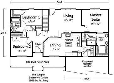 Basement plan house plans to show mom pinterest for Modular homes with basement floor plans