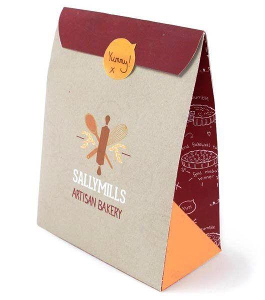 Contoh Desain Kemasan Roti Kue dan Biskuit - Kemasan-Roti-Biskuit-dan-Kue-Sallymills-Artisan-Bakery-Packaging-design