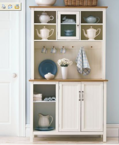A simple hutch for any kitchen. #kitchen #hutch #cabinets #storage - 44 Best Hutch Designs / Ideas Images On Pinterest