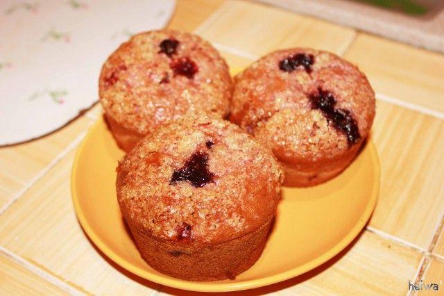 Muffins cuor di mirtillo   #vegan