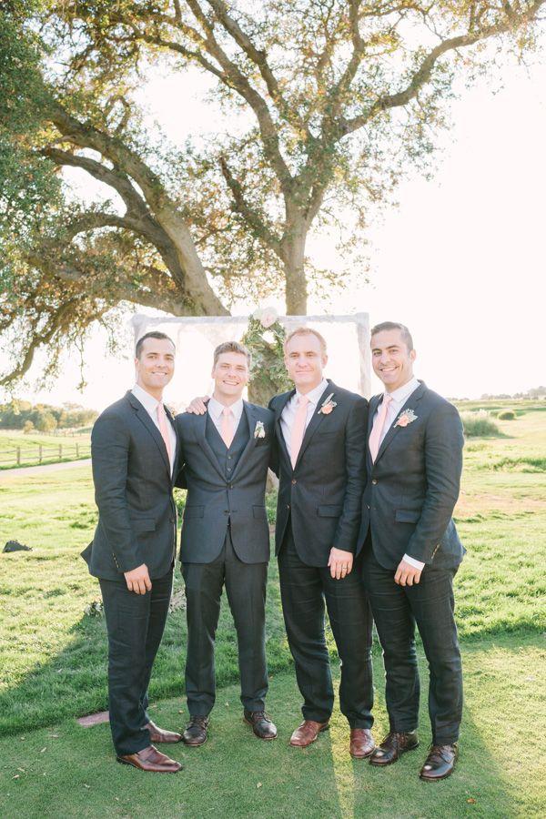 Charcoal And Pale Pink Groomsmen Look Groomsmen Groom Weddingchicks Weddingchicks