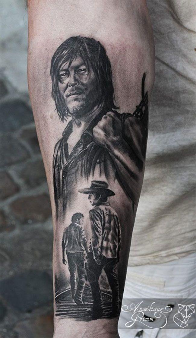 Sélection de 15 tatouages sur l'univers de The Walking Dead   Inkage