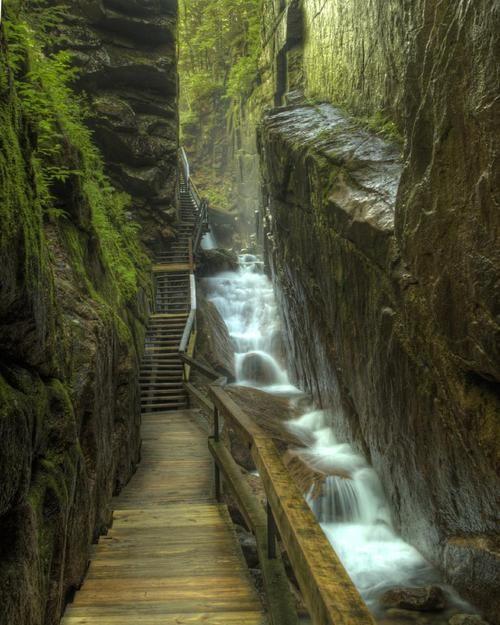 Flume Gorge, Franconia Notch, New Hampshire photo via cali