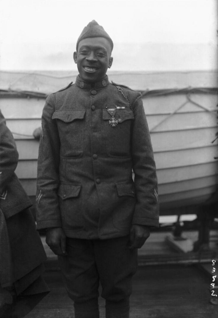 William Henry Johnson Aka The Black Death Harlem Hell Fighter (circa July 15, 1892 – July 1, 1929), commonly known as Henry Johnson,[2] was a United States Army soldier who performed heroically in the first African American unit of the U.S. Army to engage in combat in World War I.[3] On watch in the Argonne Forest on May 14, 1918, he fought off a German raid in hand-to-hand combat, killing multiple German soldiers and rescuing a fellow soldier while experiencing 21 wounds