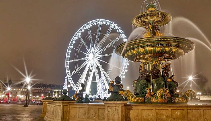 Night Life Photo Challenge: One of the most beautiful views of Paris at night can be enjoyed from the big wheel 'La Grande Roue de Paris' on Place de la Concorde.