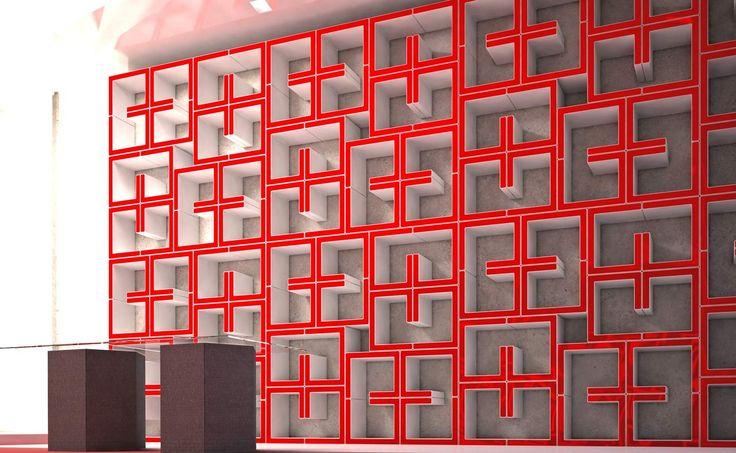 #Pregia #design #pack #indoor #interior #arredo #arredamento #esposizione #stand #interni #madeinitaly #rosso #red #shop #visualmerchandising