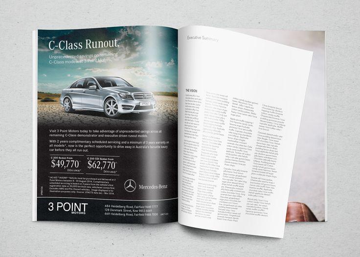 Press Campaign advertisements for 3 Point Motors - Mercedes-Benz