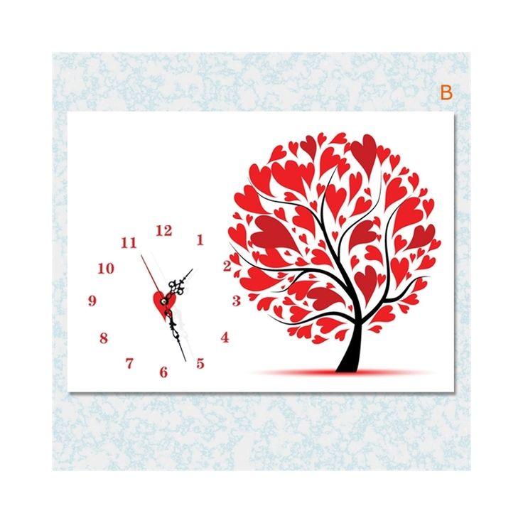 壁掛け時計 壁絵画時計 静音時計 1枚パネル 紅葉 KC
