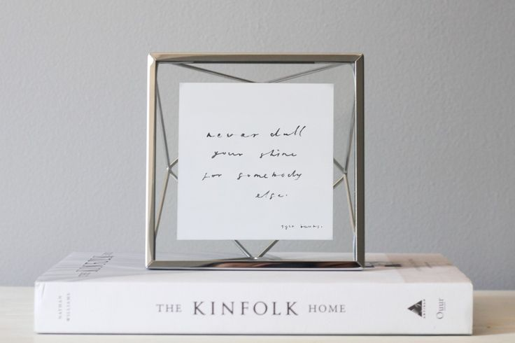 Umbra Prisma frame makes a unique and motivating display featuring word art by Belinda Love Lee.