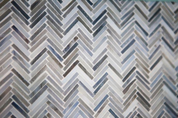 Herringbone tile as the kitchen backsplash CousinsOnCall