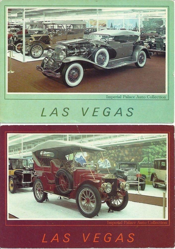 Las Vegas POSTCARD Imperial Palace 1905 Thomas Flyer and 1934 Dusenberg lot of 2 | eBay