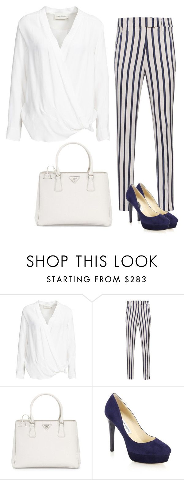 """""""Business inspiration"""" by monika1555 on Polyvore featuring By Malene Birger, Dondup, Prada and Jimmy Choo"""