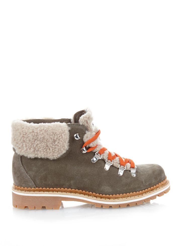 Margherita suede après-ski boots by Montelliana | Shop now at #MATCHESFASHION.COM