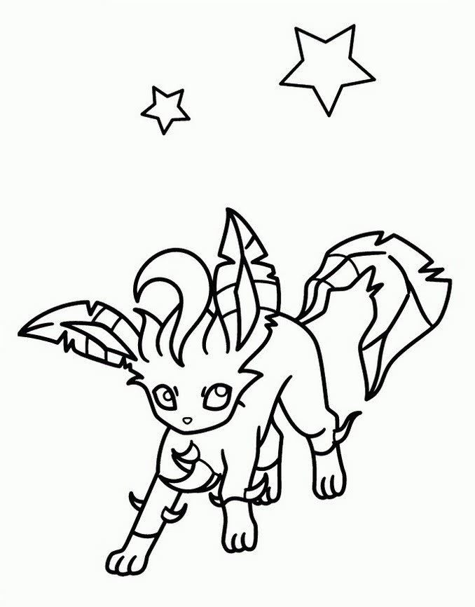Leafeon Coloring Book