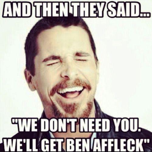 Christian Bale Batman Ben Affleck Ben Affleck as Batman: Best Reactions & Internet Memes