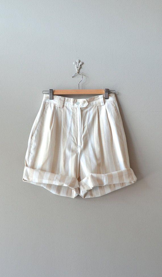 striped shorts // vintage 1980s baggy shorts // Au Lait striped shorts // style