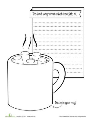 Worksheets 2nd Grade Writing Prompts Worksheets 17 best ideas about christmas writing prompts on pinterest hot chocolate prompt paid worksheets2nd grade