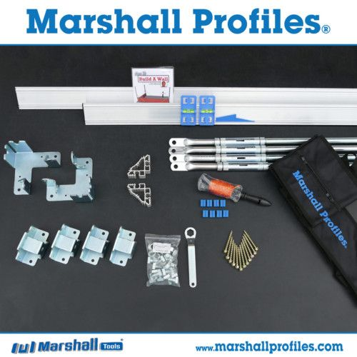 1 Set Includes:  1 Set 2.25M (2 Profiles) & Base Plates 4 Adjustable Stay bars & Base Plates 2 External Sliders 12 M12 Nuts & Bolt + Spanner 1 30M String Line On Spool 8 Plastic Line Ties 2 Profile Levels 1 Height Gauge Instructional DVD 2 Nylon Carry Bags