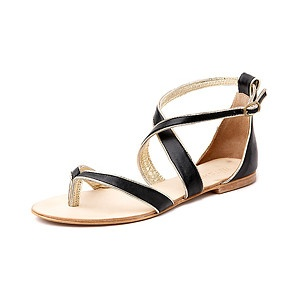 Maximus Sandal in Black/Gold from Witchery