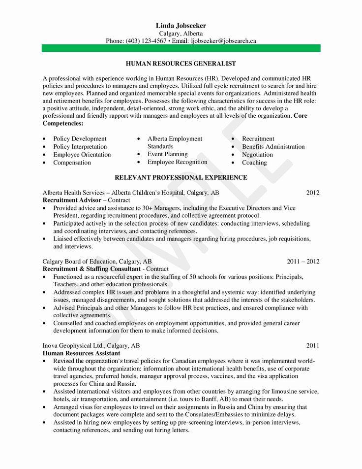 20 human resource generalist resume human resources
