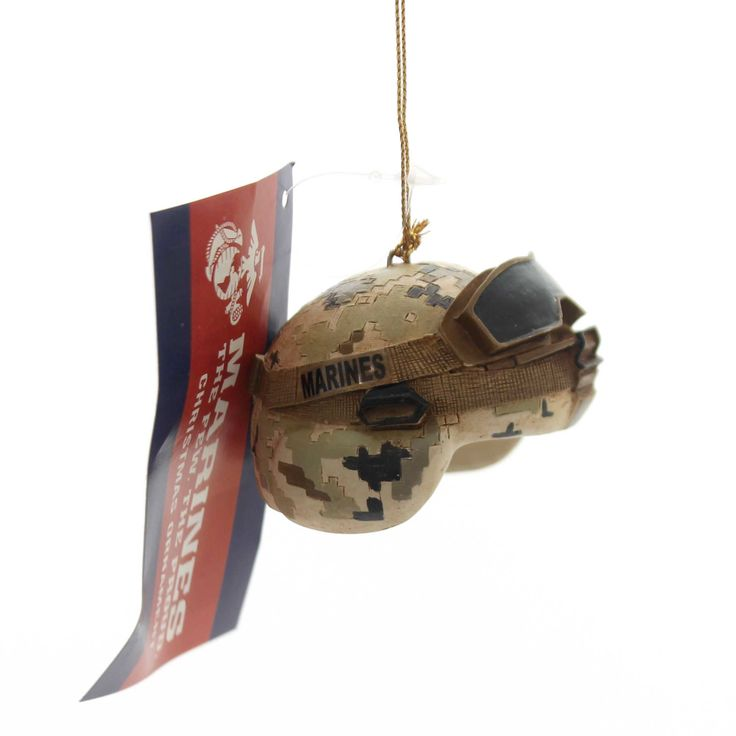 Holiday Ornaments Marine Combat Helmet Resin Ornament