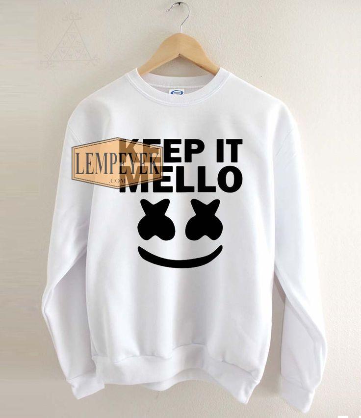 Keep It Mello Marshmello Sweatshirt Unisex Size S-3XL