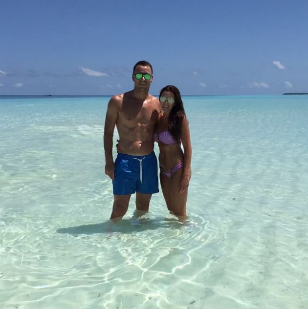 CHELSEA defender JOHN TERRY soaks up the sun in the Maldives with wife TONI...