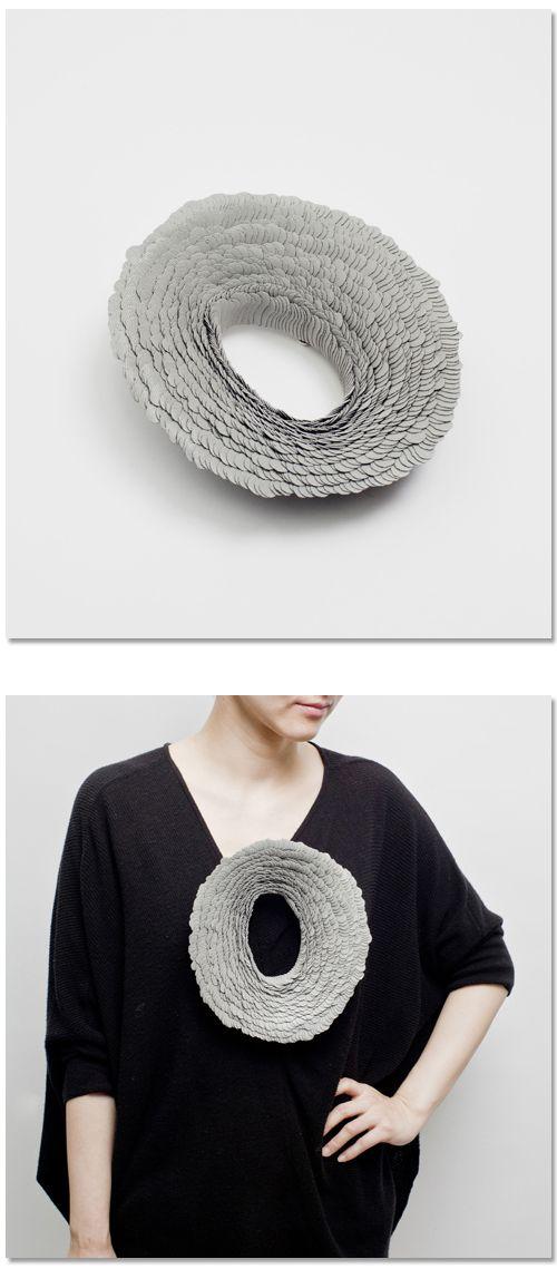 """Yong Joo Kim Brooch: Requisite Variety S2-EV8, 2013 Hook-loop fastener, Sterling Silver 6 x 8 x 4"""""""