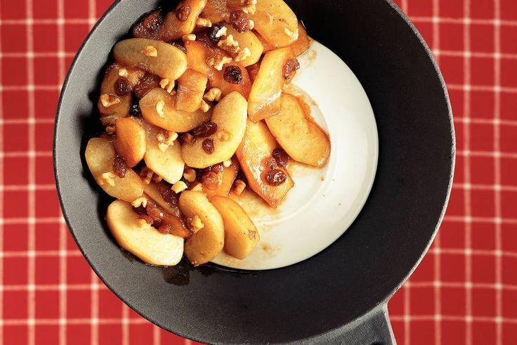 Kijk wat een lekker recept ik heb gevonden op Allerhande! Winterfruit uit de wok