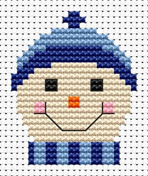 Sew Simple Frosty cross stitch kit from Fat Cat Cross Stitch Finished size approx 5cm x 6.2cm. Kit contains 11ct white aida fabric, stranded embroidery cotton, needle, colour chart and instructions. A brand new kit will be sent directly to you by Fat Cat Cross Stitch - usually within 2-4 working days © Fat Cat Cross Stitch