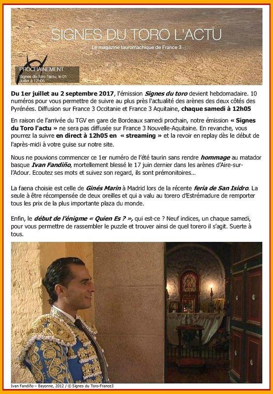 FR3 OCCITANIE - SIGNES DU TORO
