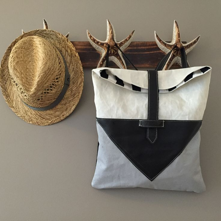 Cute backpack, sailcloth, leather & canvas