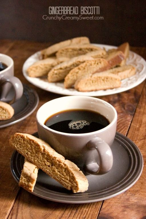 Gingerbread Biscotti Recipe - Crunchy Creamy Sweet....this cookie is the reason to drink coffee!!!