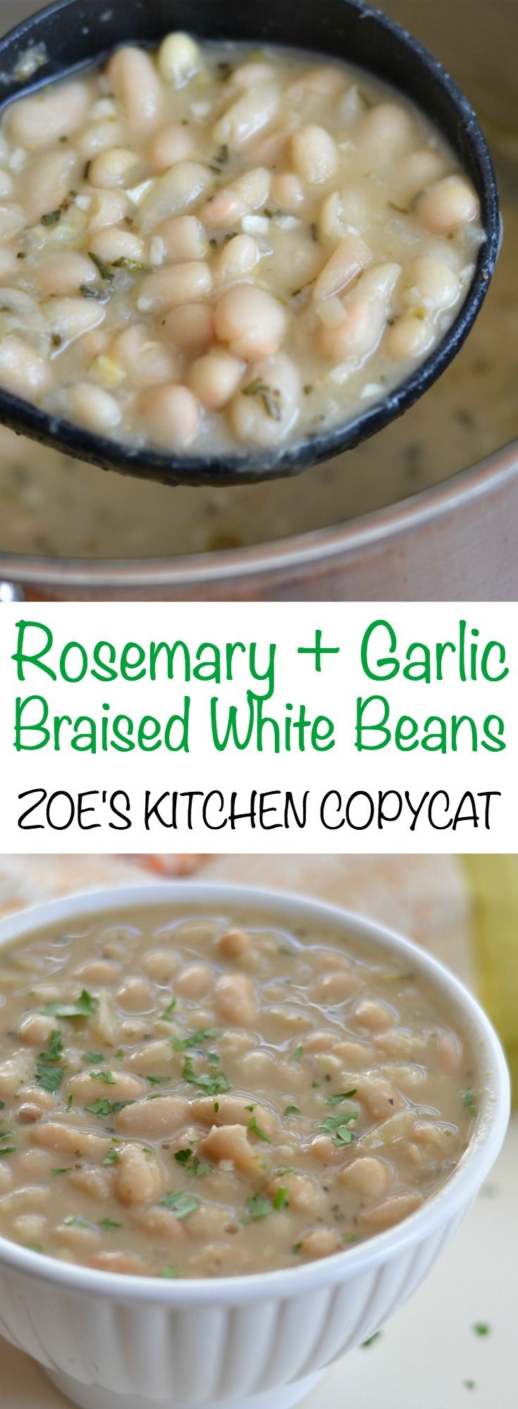 Based on our favorite beans from Zoe's kitchen, this easy recipe for rosemary…