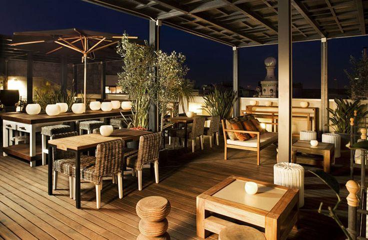 Hotel Pulitzer, Barcelona... roof top bar