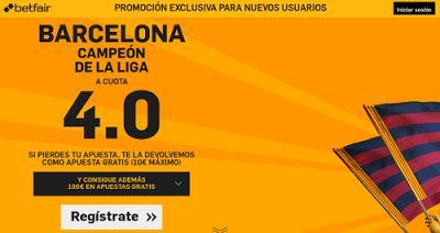 el forero jrvm y todos los bonos de deportes: betfair Barcelona campeón supercuota 4 Liga 14 may...
