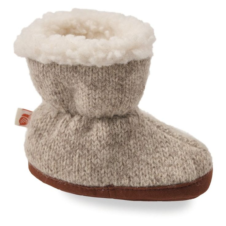 Acorn Kids Easy Wool Bootie Ragg Slippers Gray, Size: TS - (9.5 cm / 0-6 mos) - A10157ACKTS