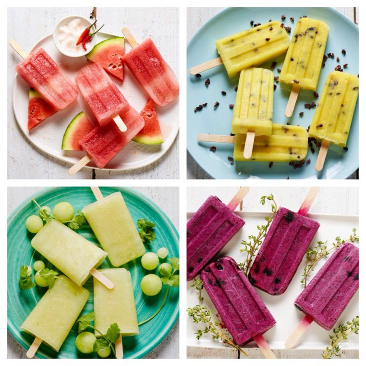 Serve up seasonal frozen treats at home with these creative popsicle combinations like Watermelon, Chili and Basil and Blueberry, Thyme and Sweet Cream: http://www.foodnetwork.com/grilling/grilling-central-frozen-treats/choppedsicles.html?soc=sitesocialpinterest
