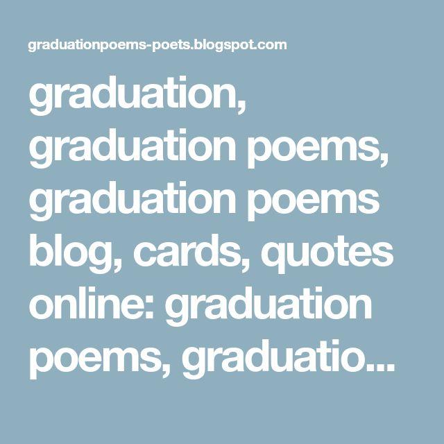 Best 25+ Graduation poems ideas on Pinterest Graduation ideas - graduation programs