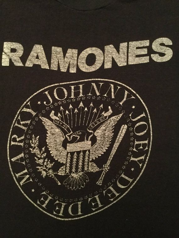 RARE Original Late 1970s Ramones T-shirt Joey, Johnny, Marky, Dee Dee Lineup - Marky was in the Ramones from 1978 to 1983. This T-shirt dates