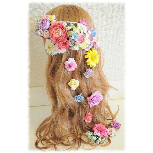 各パーツをお好みの位置に着けて頂けるのでこんなふうにダウンヘアスタイルにもok♡ 作品に関するご質問はお店のホームページよりお問い合わせをお願いいたします☆ 【Flower accessories m.mode】 HP*http://www.m--mode.com #花かんむり#花冠#花飾り#はなかんむり#ヘッドドレス#コサージュ#ラプンツェル#ブライダル#成人式#前撮り#和装#ディズニープリンセス#ヘアアレンジ#ヘアスタイル#フラワーアレンジメント#結婚準備#ヘアメイク#結婚式準備#プレ花嫁#花嫁#お色直し#カラードレス#ウェディングドレス#hairmake #hairstyle#brideideas#weddingideas#partydecor#weddingdecor#rapunzel