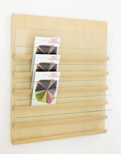 wall mounted brochure display rack FRONT: FRT 10066 by L.Pettersson & L.Notman KARL ANDERSSON