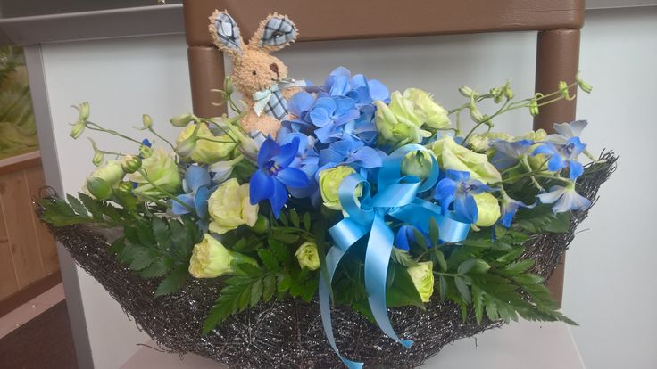 Floral arragement for baby boy