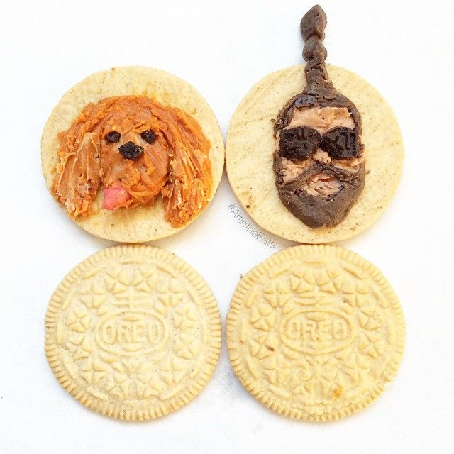 I guess I could consider myself a carving artist...but def not a starving artist. #FoodArt #ArtintheEats #OreoArt @thefatjewish: