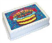 Happy Birthday Edible Cake Image - A4 Size