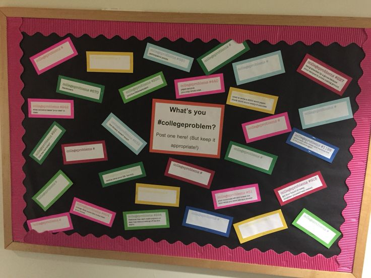 What's your #collegeproblem bulletin board.