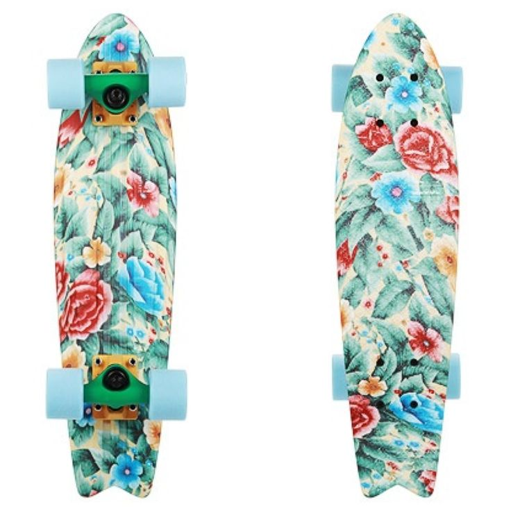 Penny skateboard / flower power http://www.creativeboysclub.com/the-board-room-ben-mackay-penny-skateboards-founder